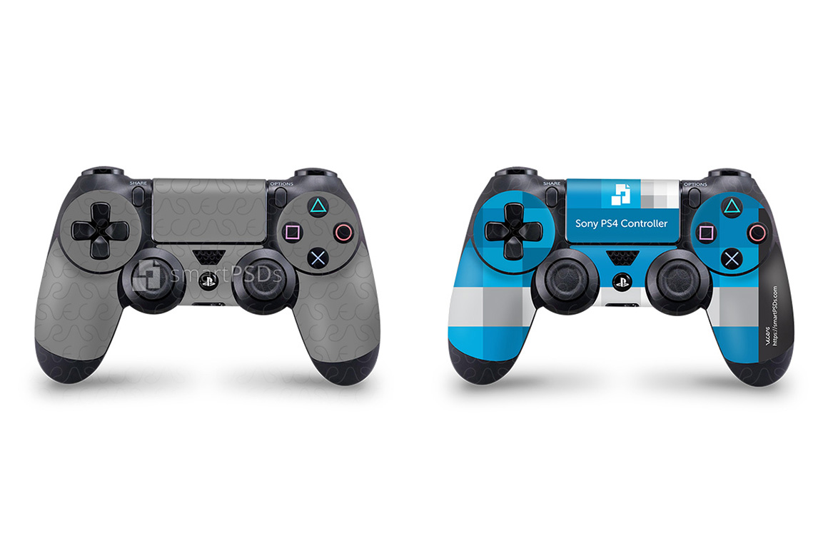 Sony PS4 Controller Skin Design Template example image 1