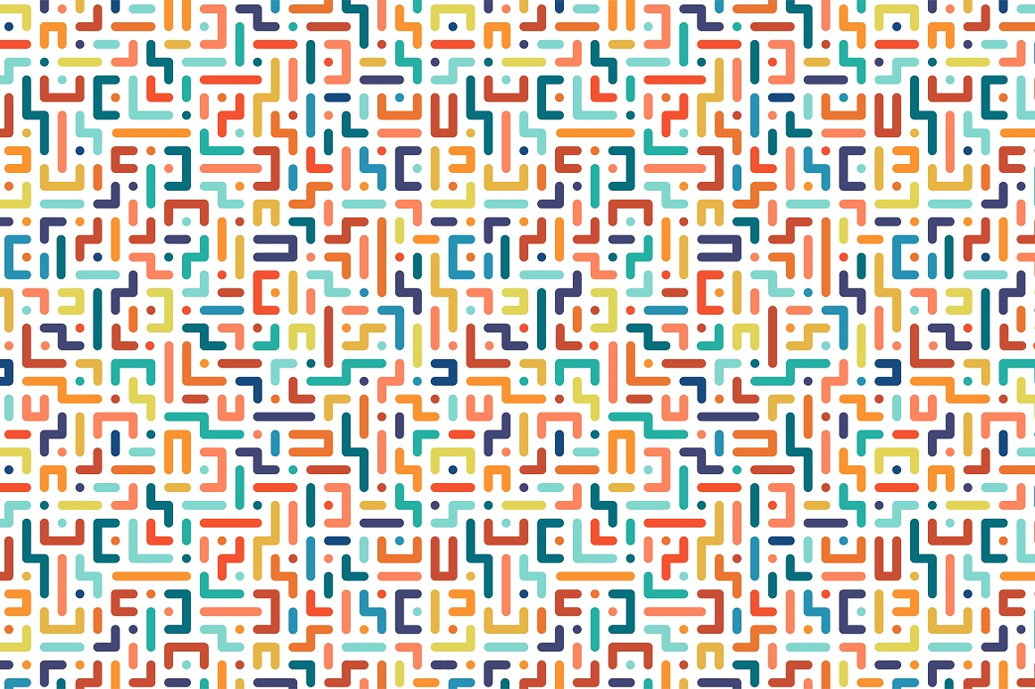 Colorful seamless vector patterns. example image 7