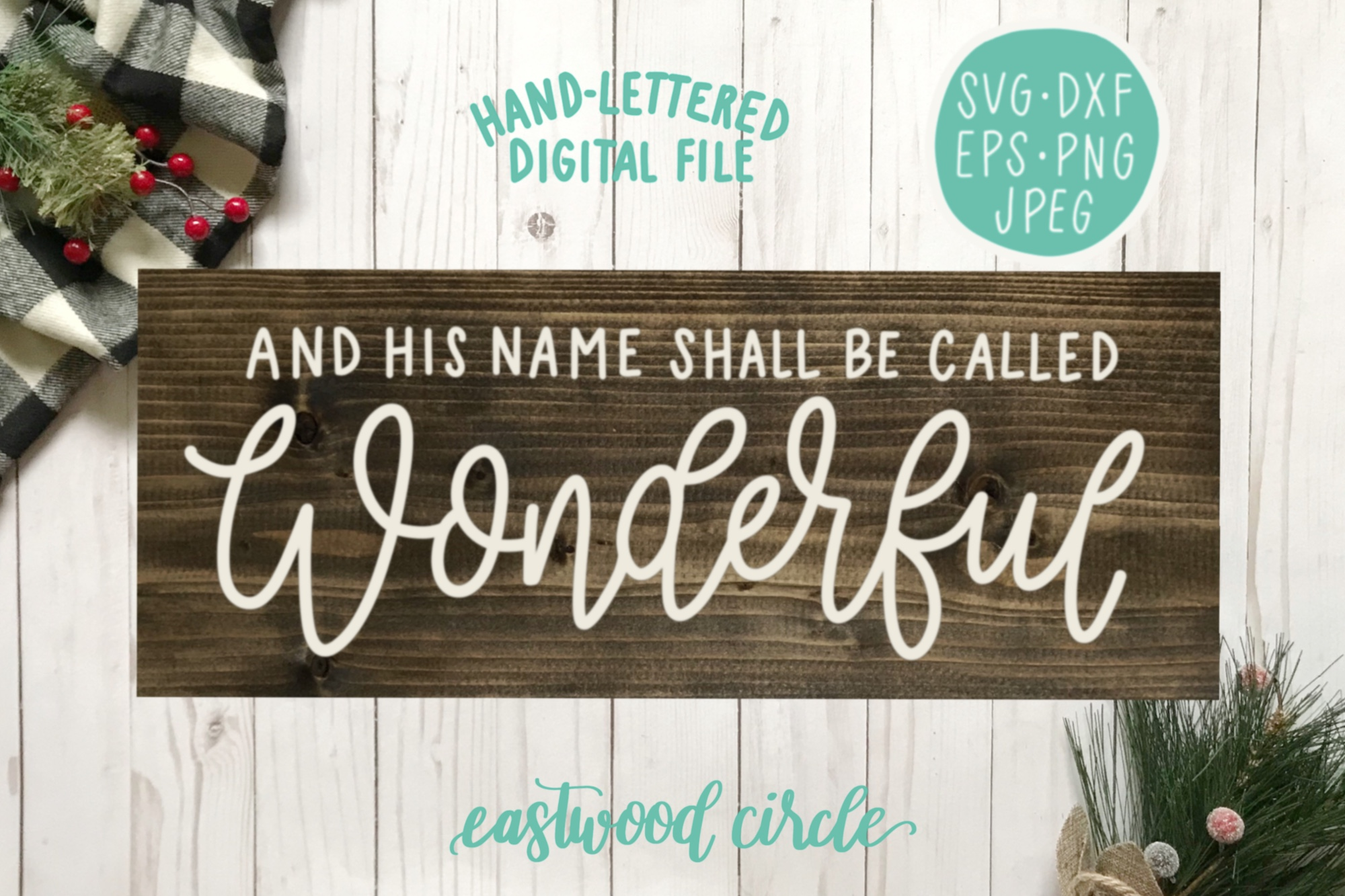 Christmas SVG Bundle - Hand Lettered Cut Files for Signs example image 7