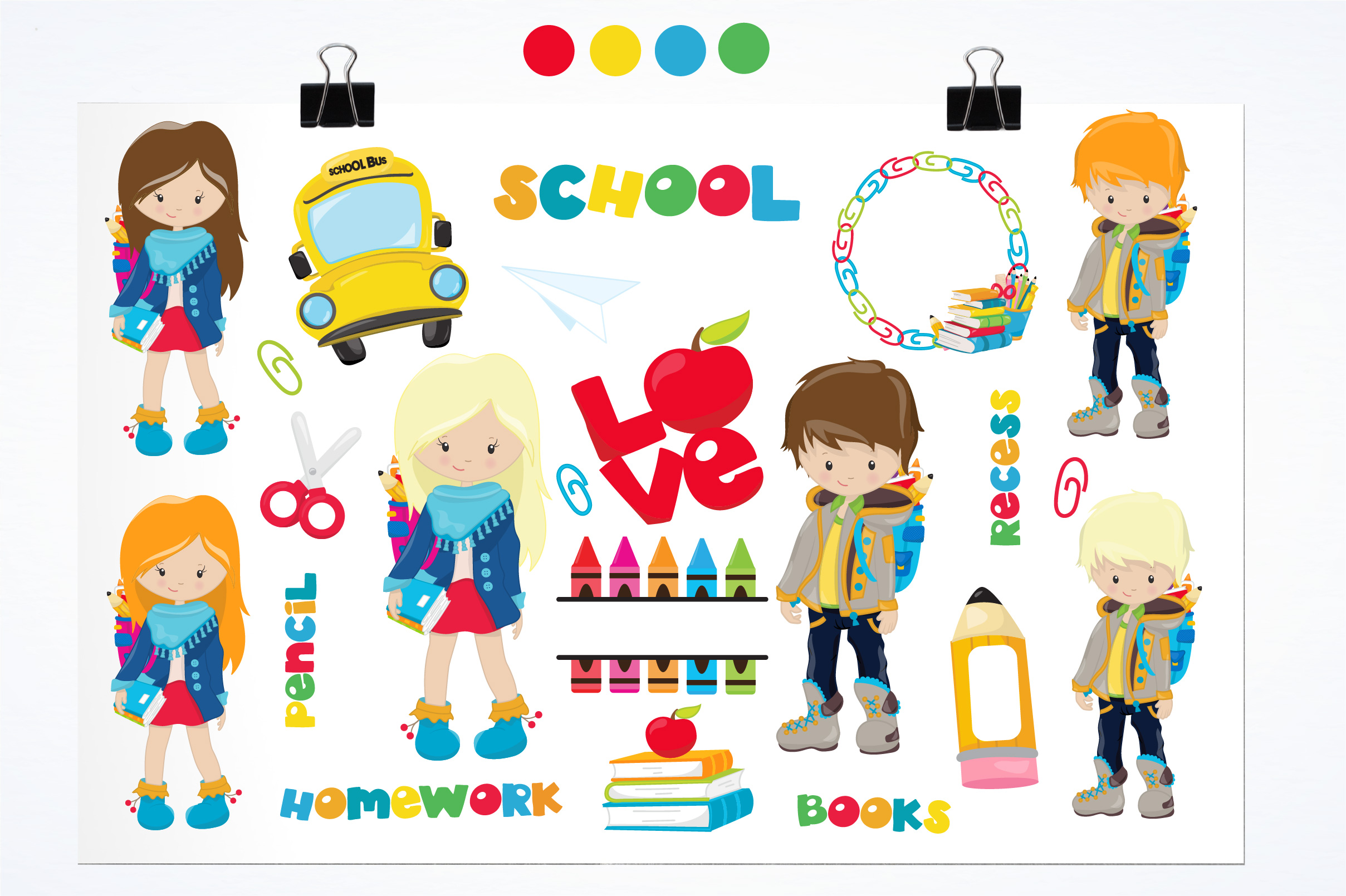 Back to school graphics and illustrations example image 2