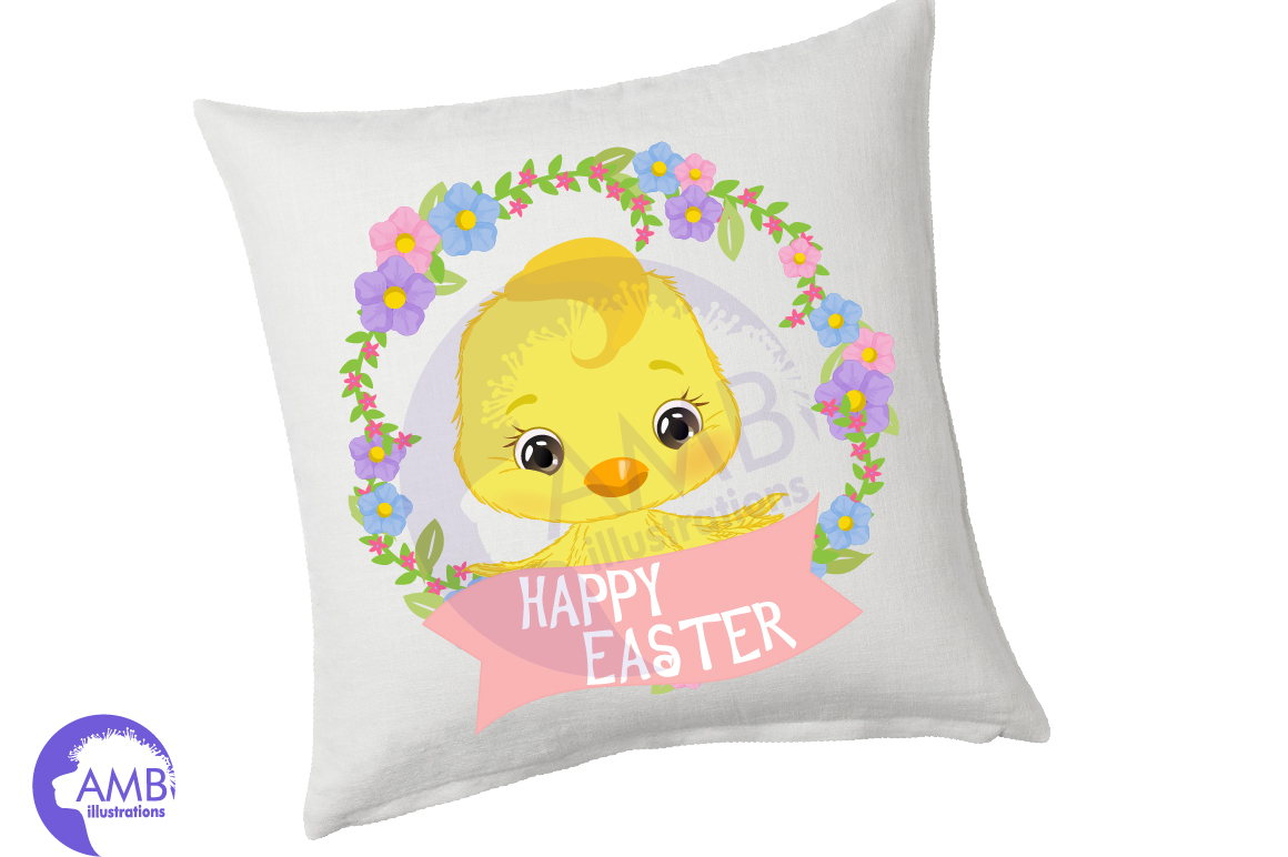Easter Chicks clipart, part 3 AMB- 2728 example image 3