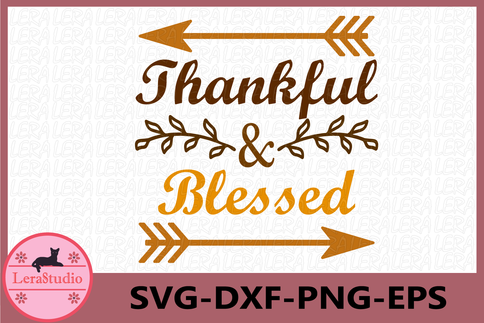 Thanksgiving SVG, Grateful Thankful Blessed, Thanksgiving example image 1