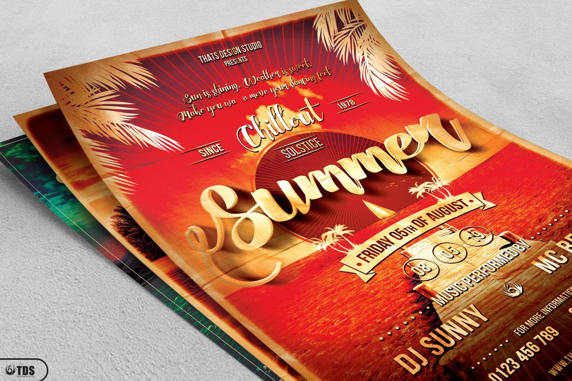 Summer Lounge Flyer Bundle example image 4