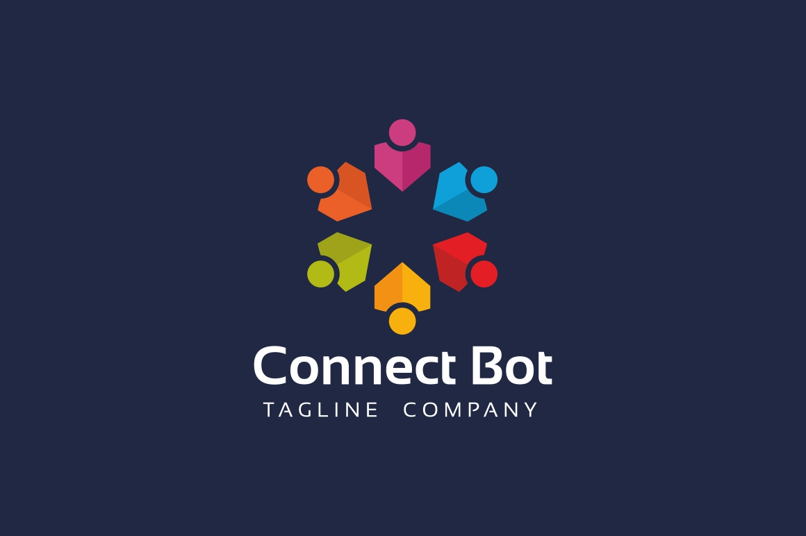 Connect People Logo Template example image 2