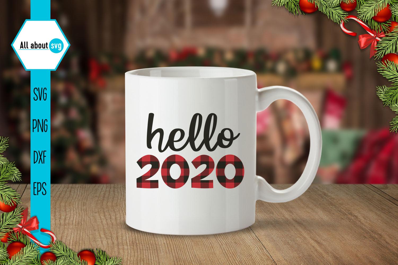 Hello 2020 Buffalo Plaid Svg example image 4