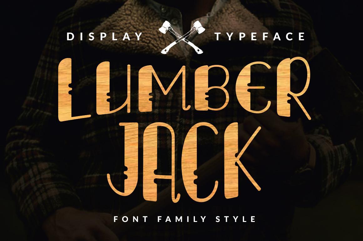 Lumberjack Family Font Set example image 1