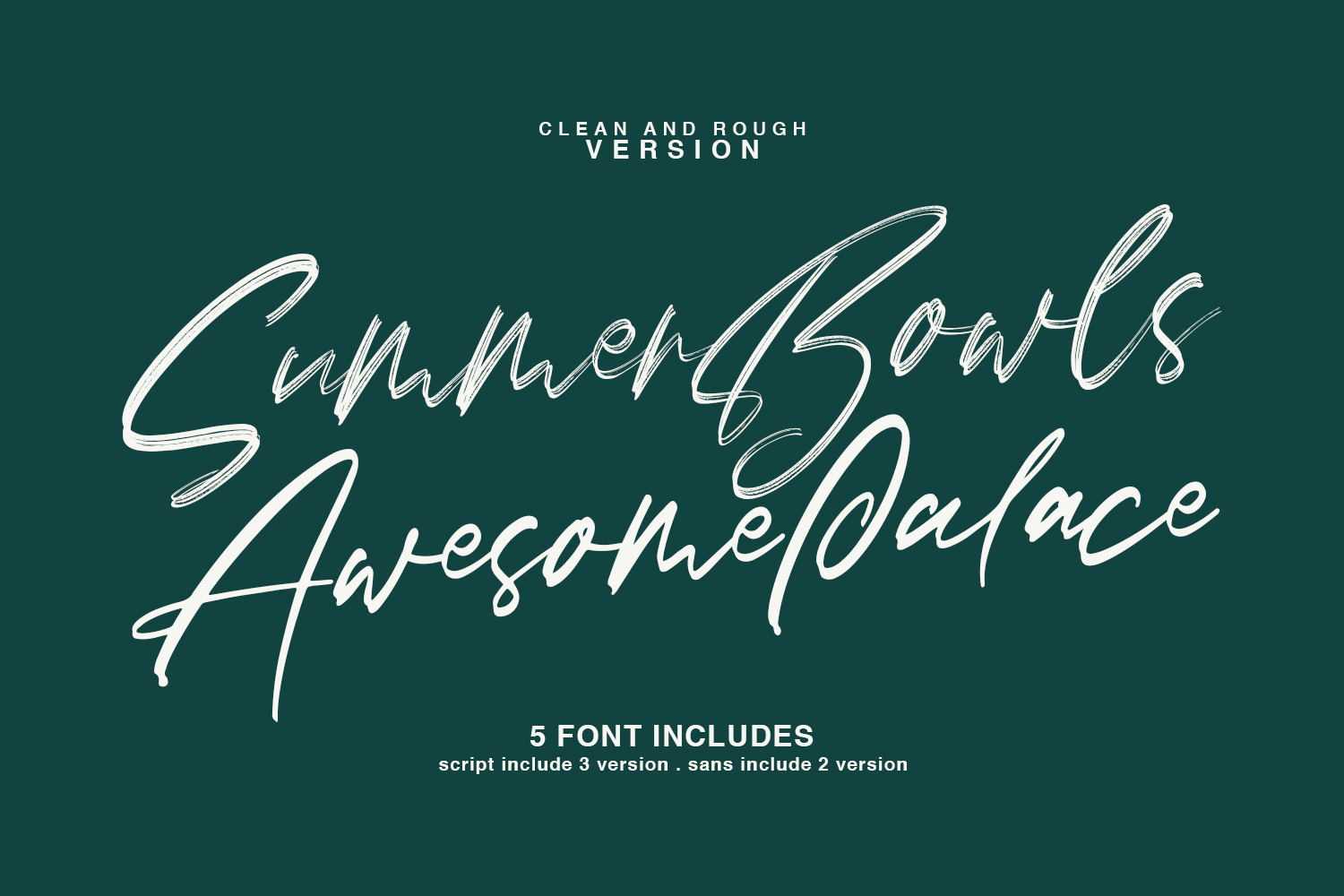 Lovers Brooks SVG Brush Font Sans example image 2