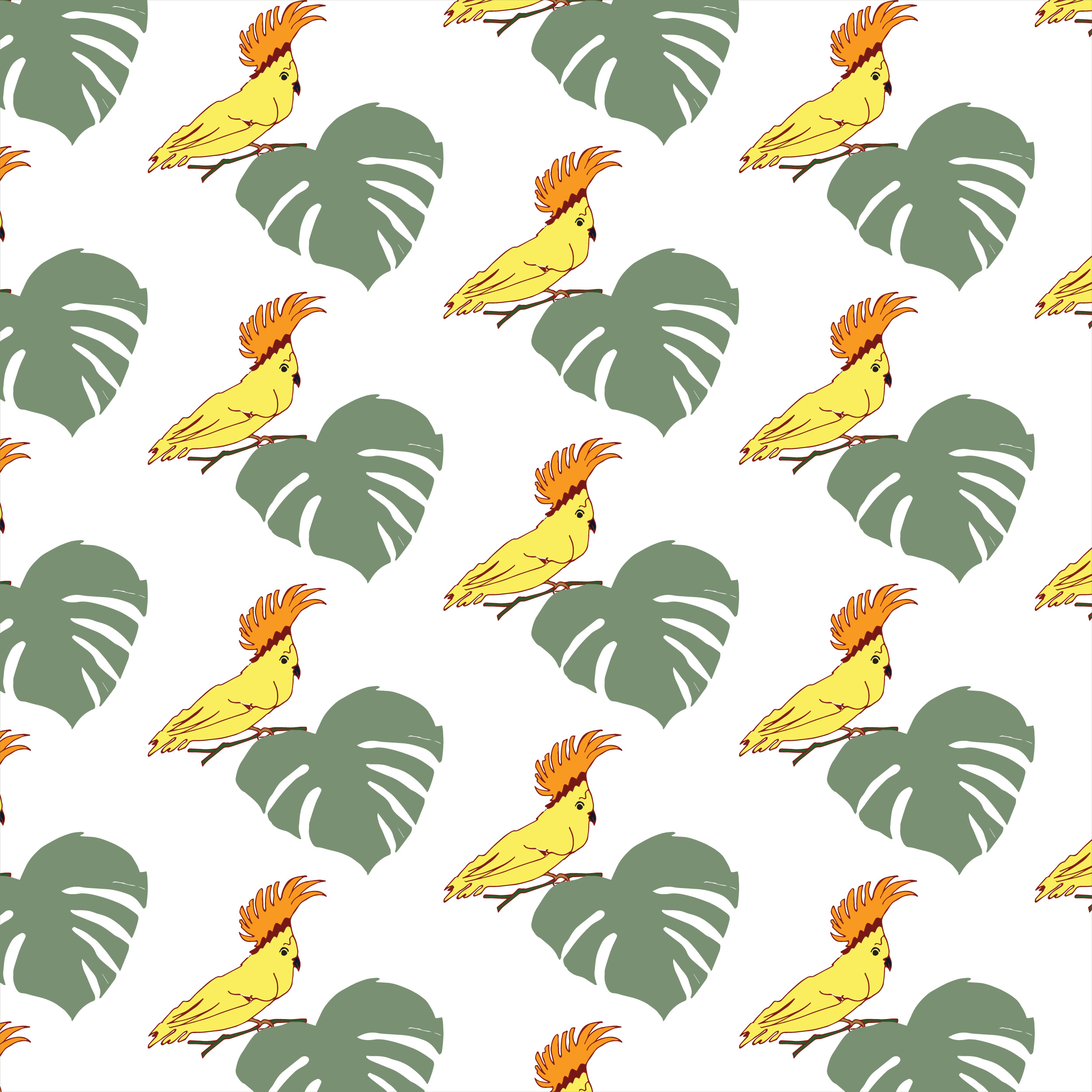 Fantasy Patterns with Birds example image 3