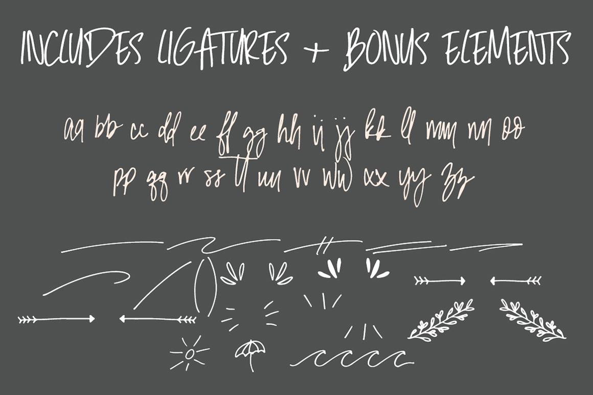 Malibu | Handwritten Font + Extras example image 8