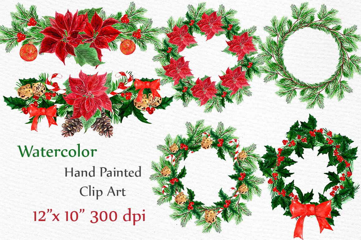 Christmas Wreaths Clip Art example image 3