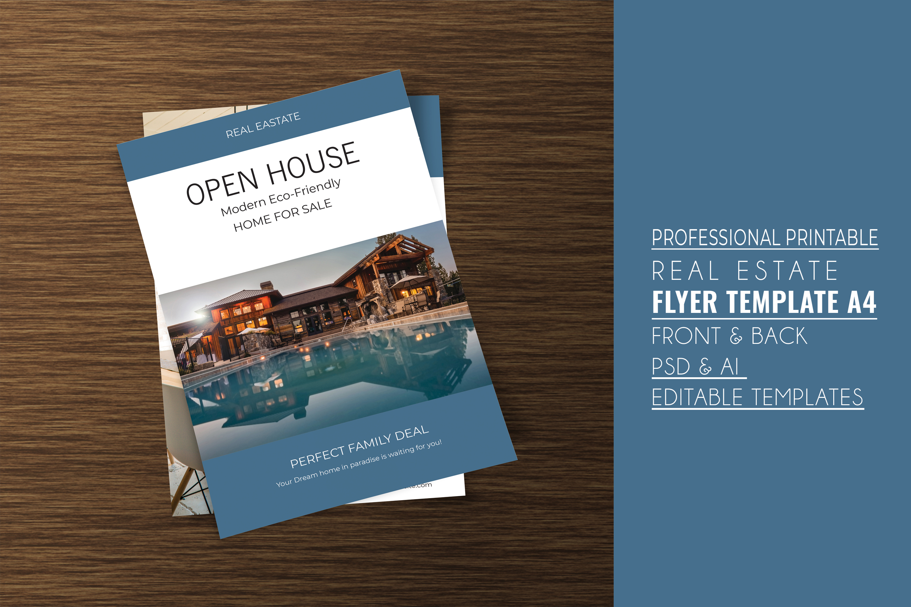 Professional Real Estate Flyer A4 - Printable Templates example image 4