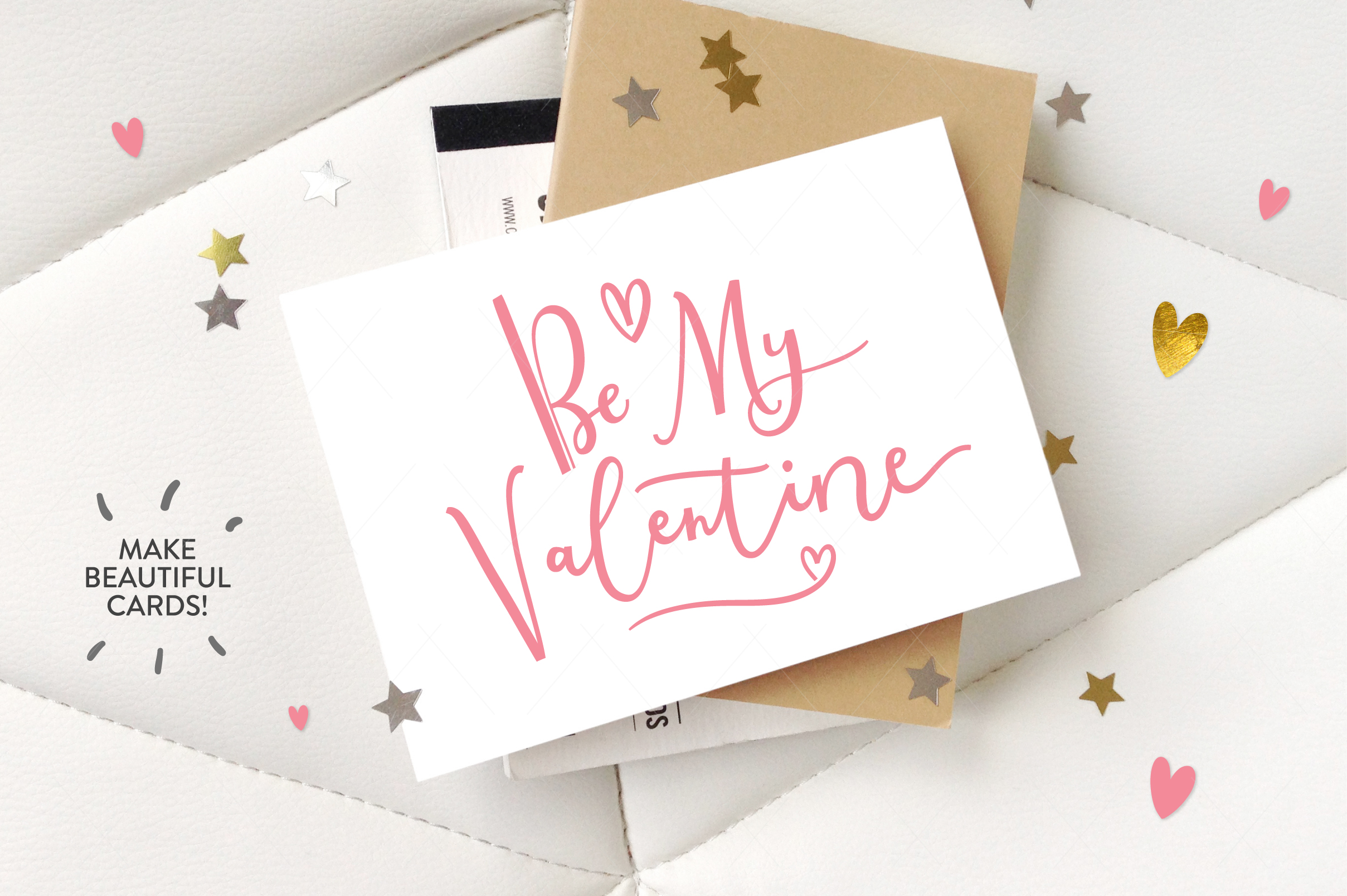 Be My Valentine, 6 letterings example image 3
