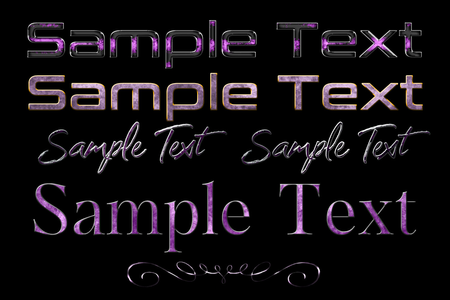 20 Lilac to Purple Layer Styles example image 2