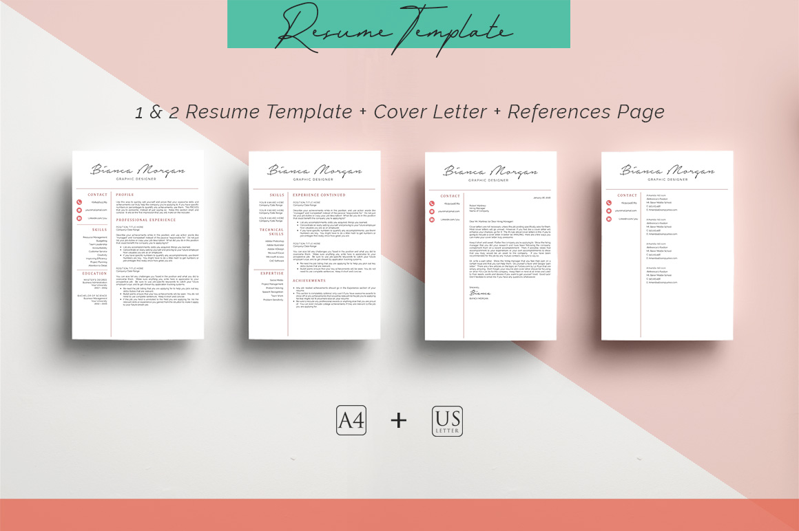 ULTIMATE BUNDLE Resume Template 10 in 1 example image 3
