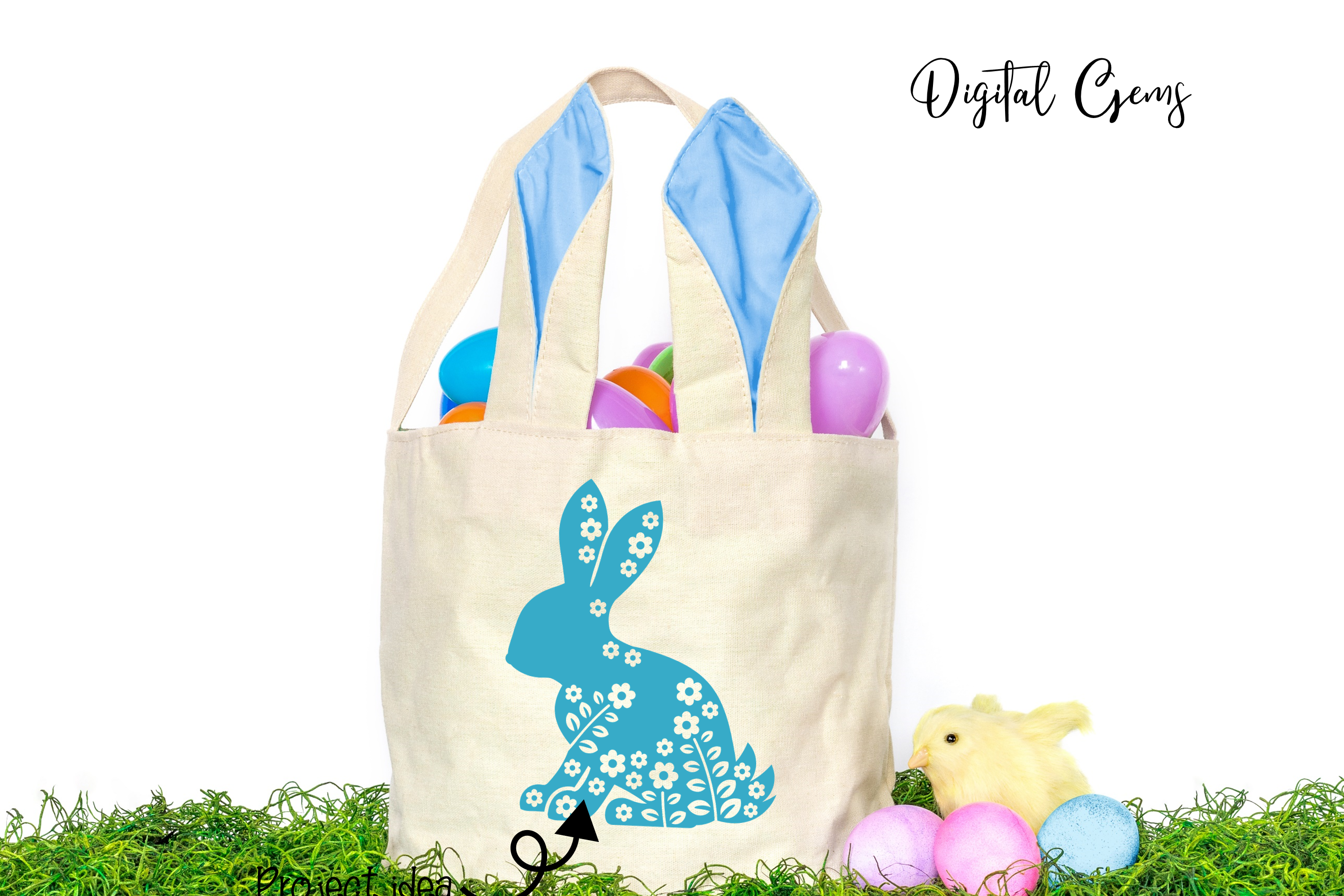 Rabbit, Easter SVG / DXF / EPS / PNG files example image 5