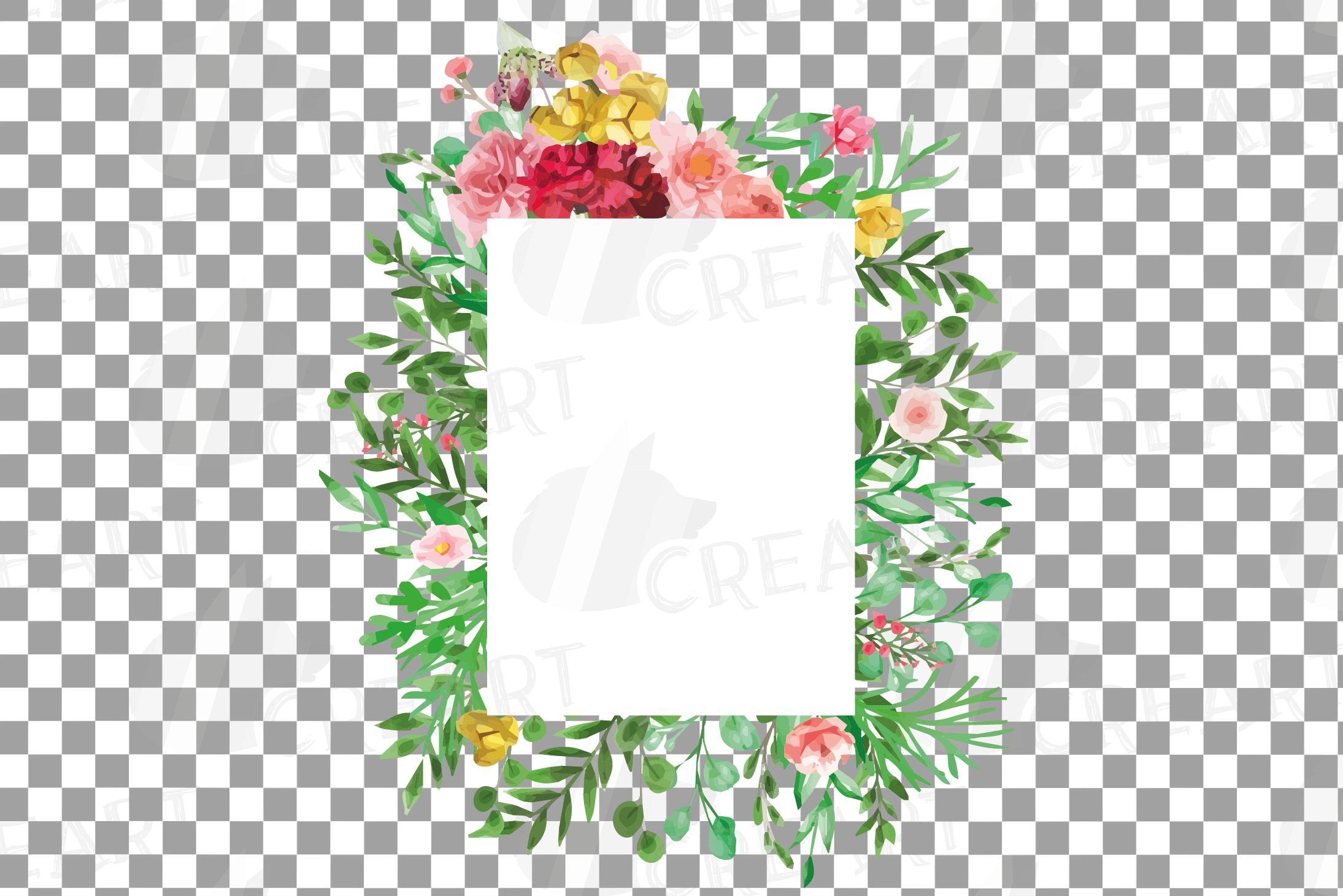 Watercolor floral floral frames and borders clip art pack example image 19