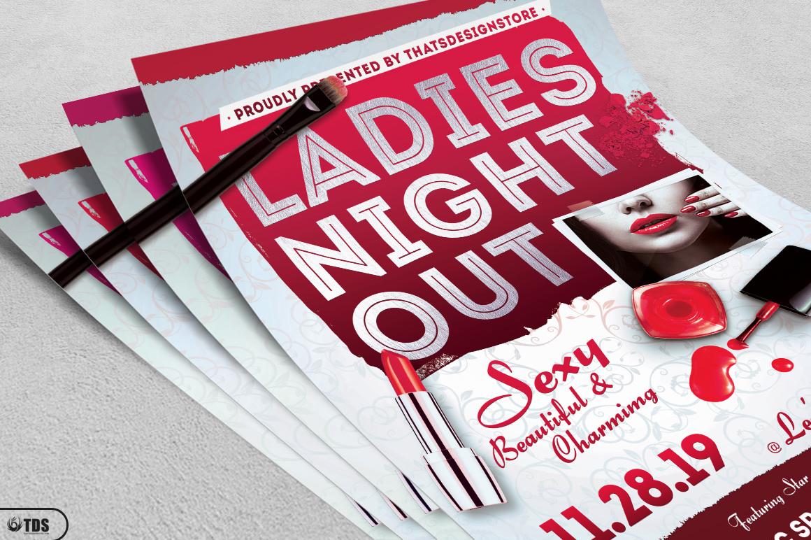 Girls Night Out Flyer Template example image 3