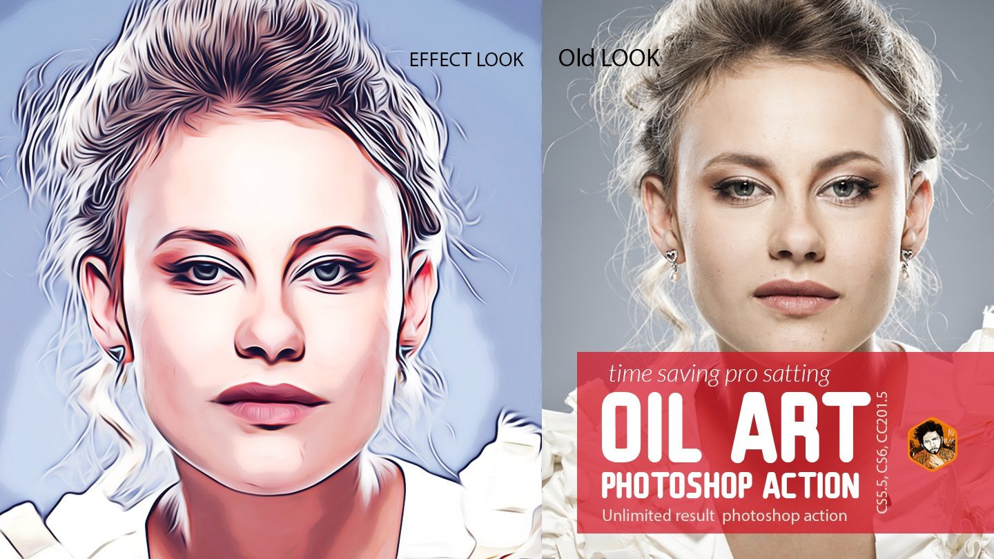 Oil Art Photoshop Action example image 3