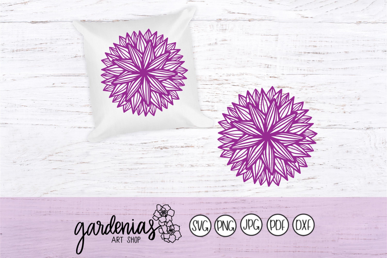 Line Flower Mandala example image 1