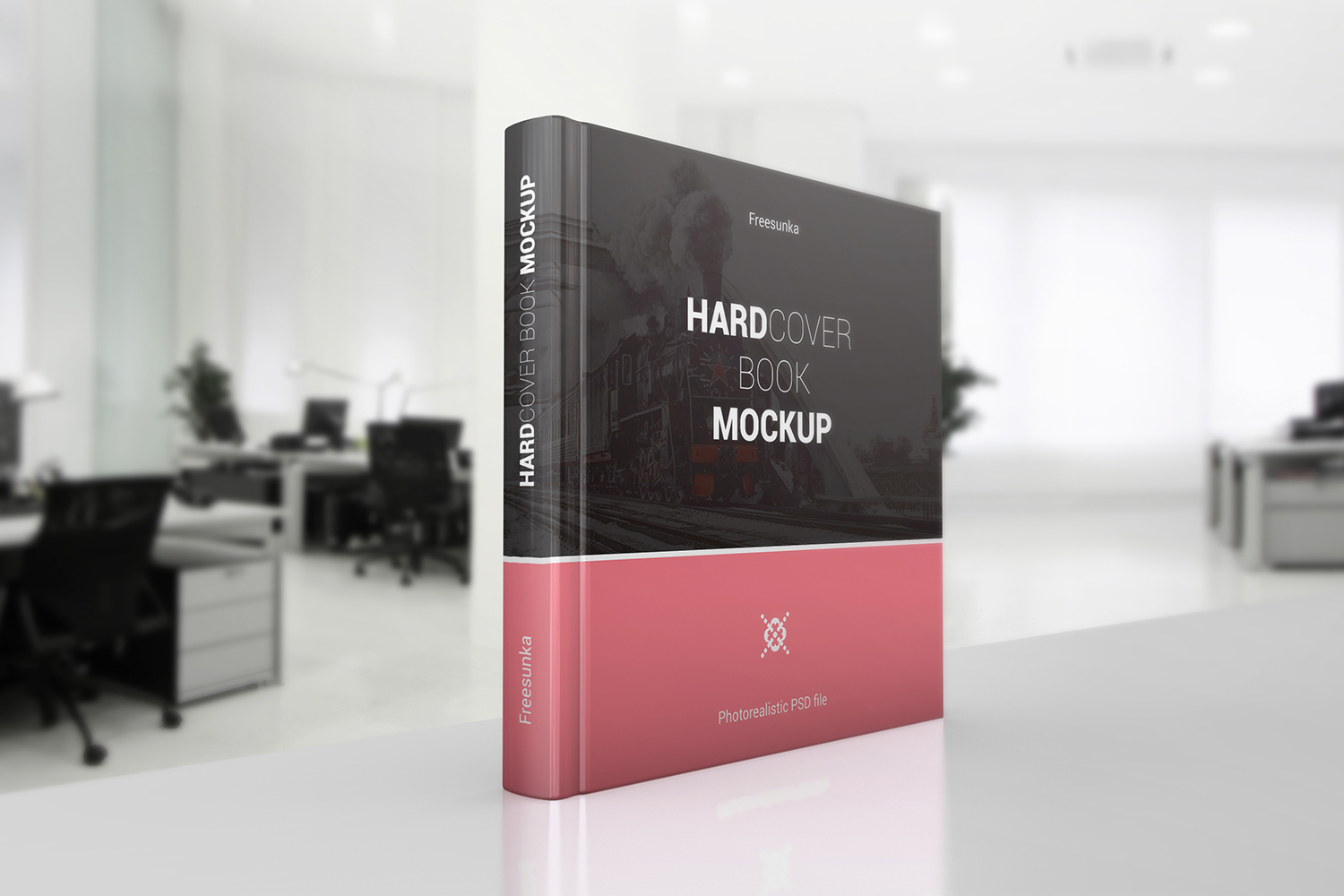 Square Hardcover Book Mockups example image 3