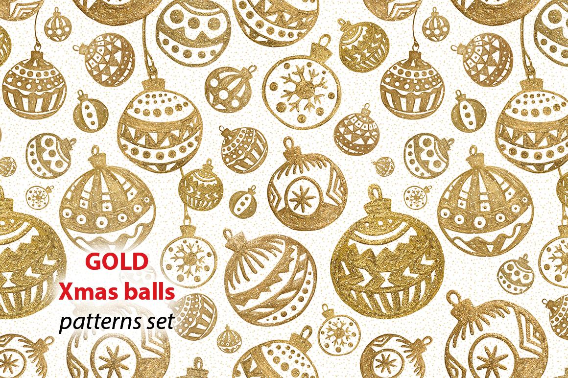 GOLD Christmas balls example image 1