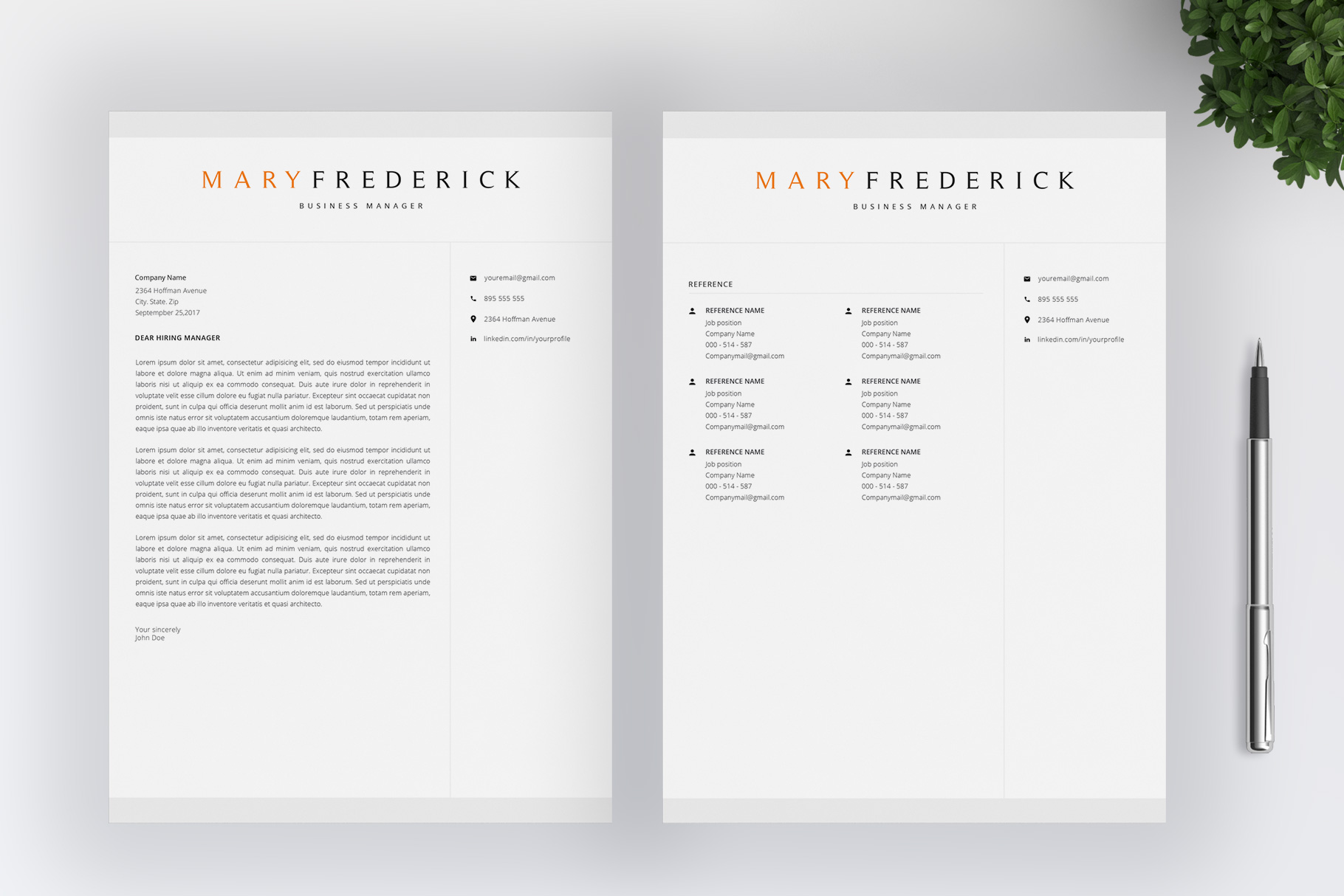 Resume Template   4 Pages   Cover Letter example image 5