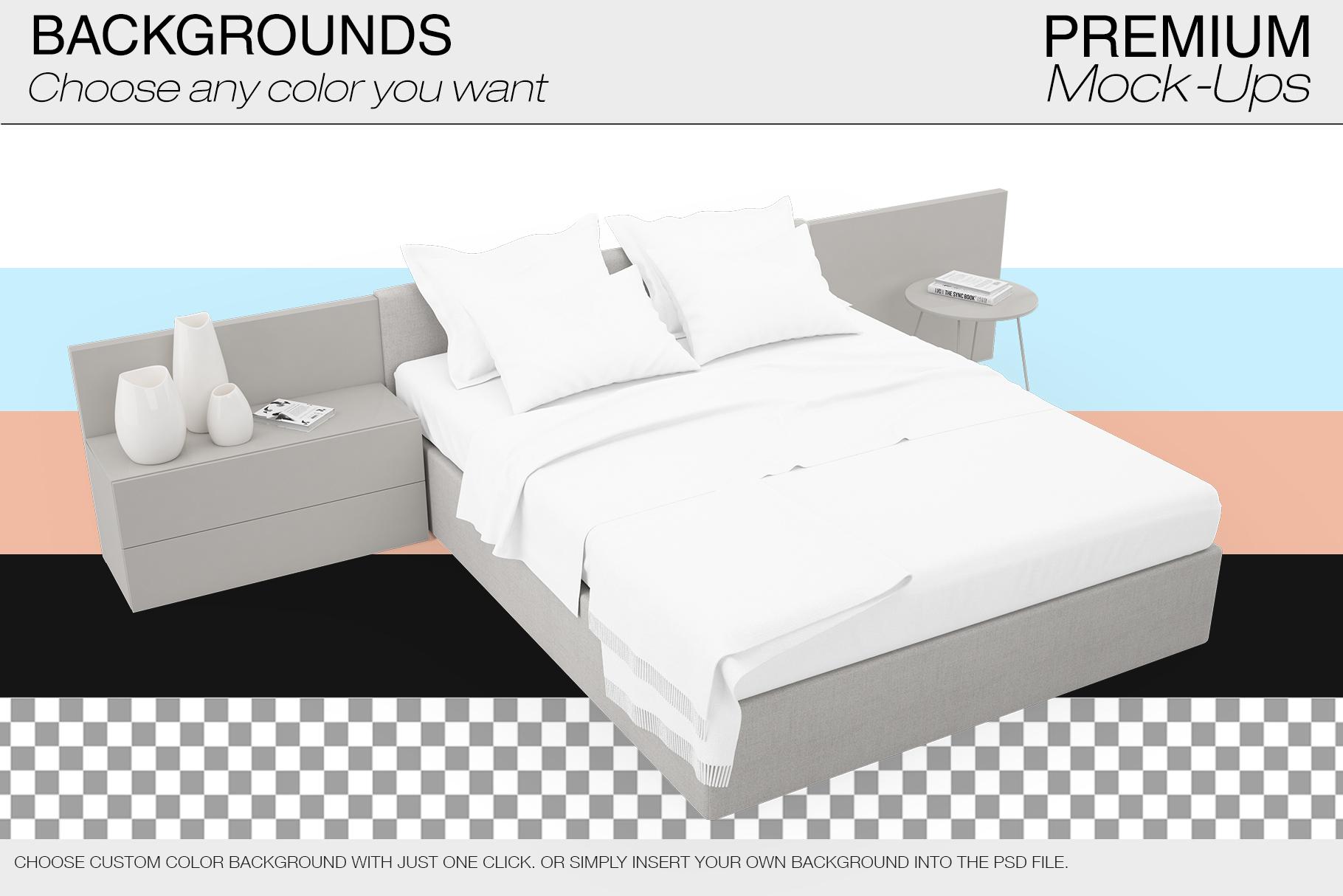 Bedding Mockup Set example image 9