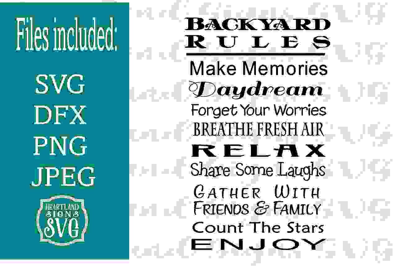 Backyard Rules SVG example image 1