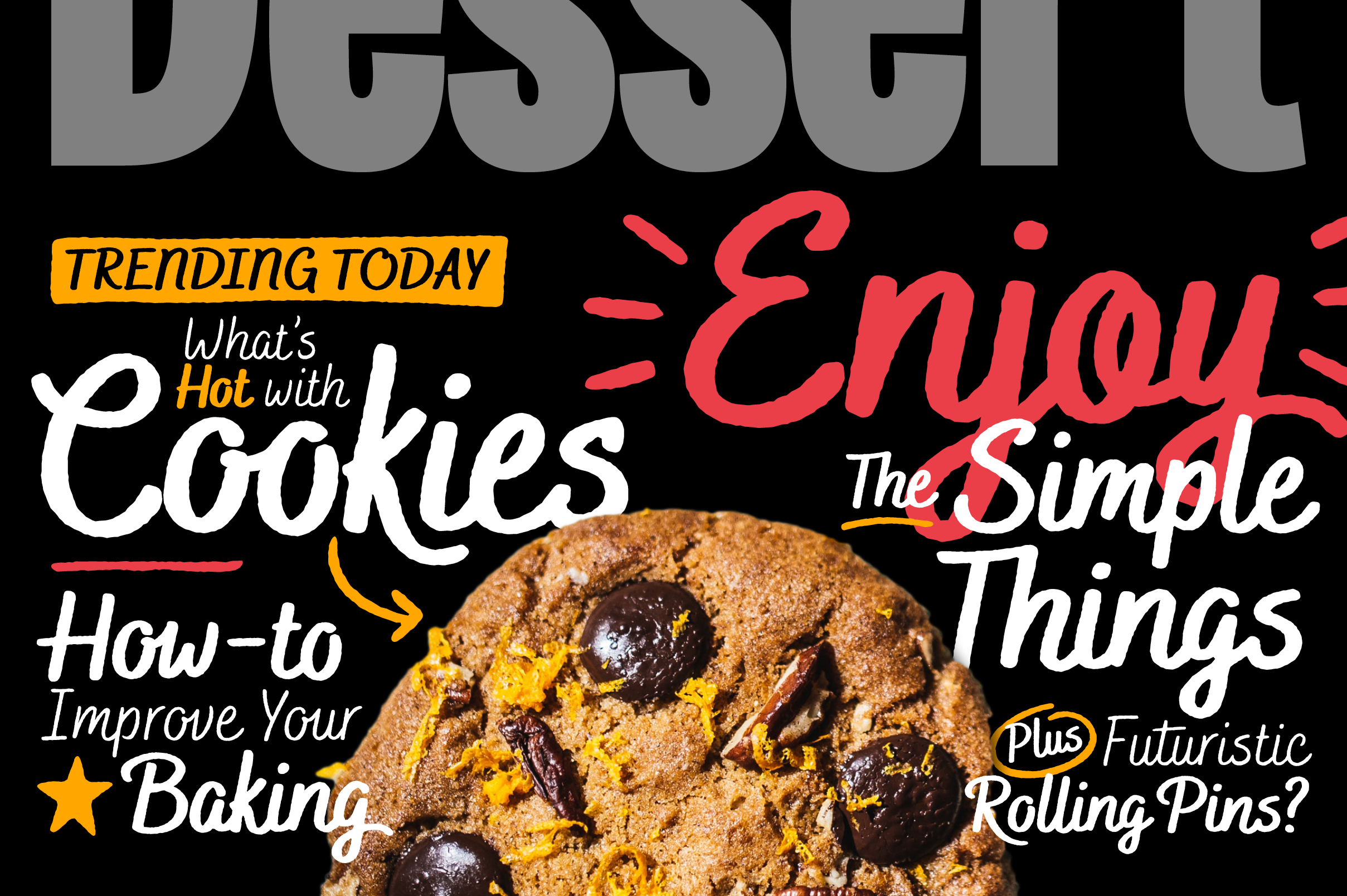 Bakerie Rough Font Family example image 2