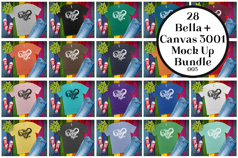 161 Bella Canvas 300 Mockups Mega Bundle Flat Lay T-Shirts example image 3