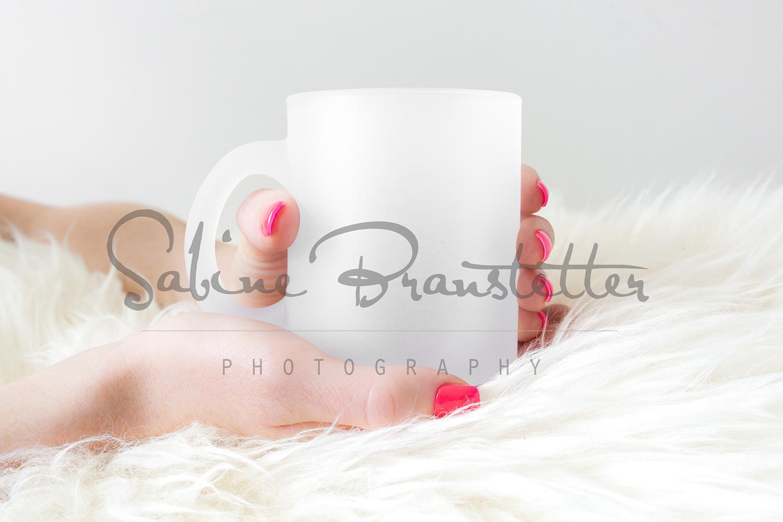 Styled Stock Photography Frosted Coffee Mug Mockup example image 1