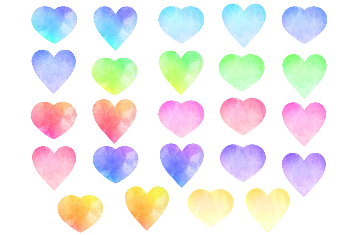 Watercolor Heart Clip Art - Valentine's Day Hearts example image 2