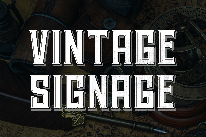 Hardsign - Layered Vintage Font example image 3