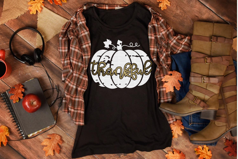 thankful SVG | pumpkin SVG | Thanksgiving SVG example image 3