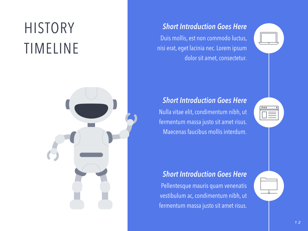 Robot Showcase PowerPoint Template example image 13