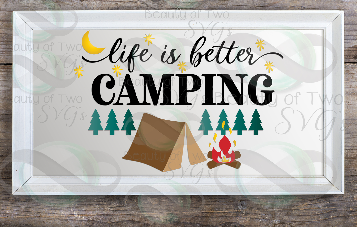 Life is better camping svg, campfire svg, tent svg example image 2