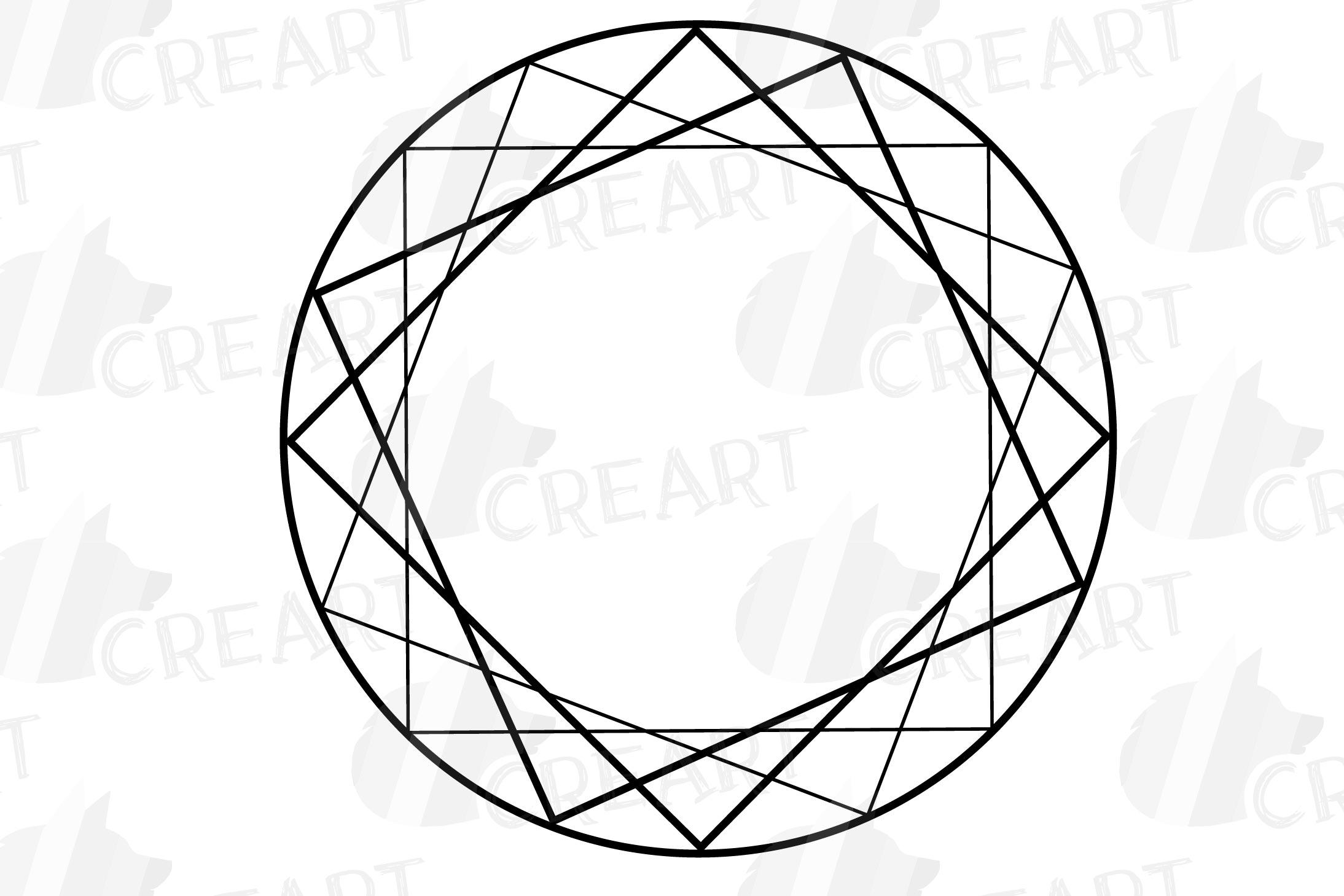 Geometric lineal black frames decor clip art. Wedding border example image 24