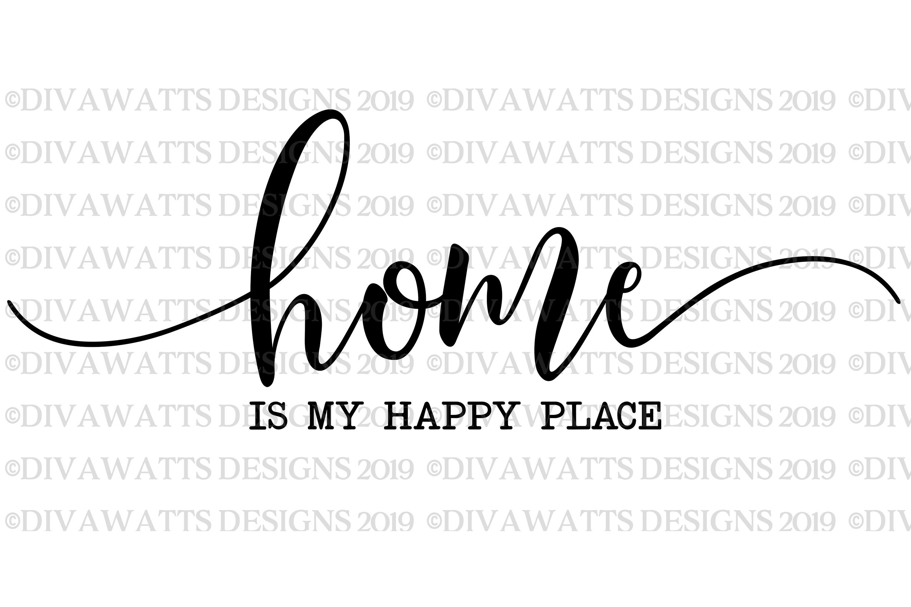 Home Is My Happy Place - Farmhouse Cutting File SVG example image 2