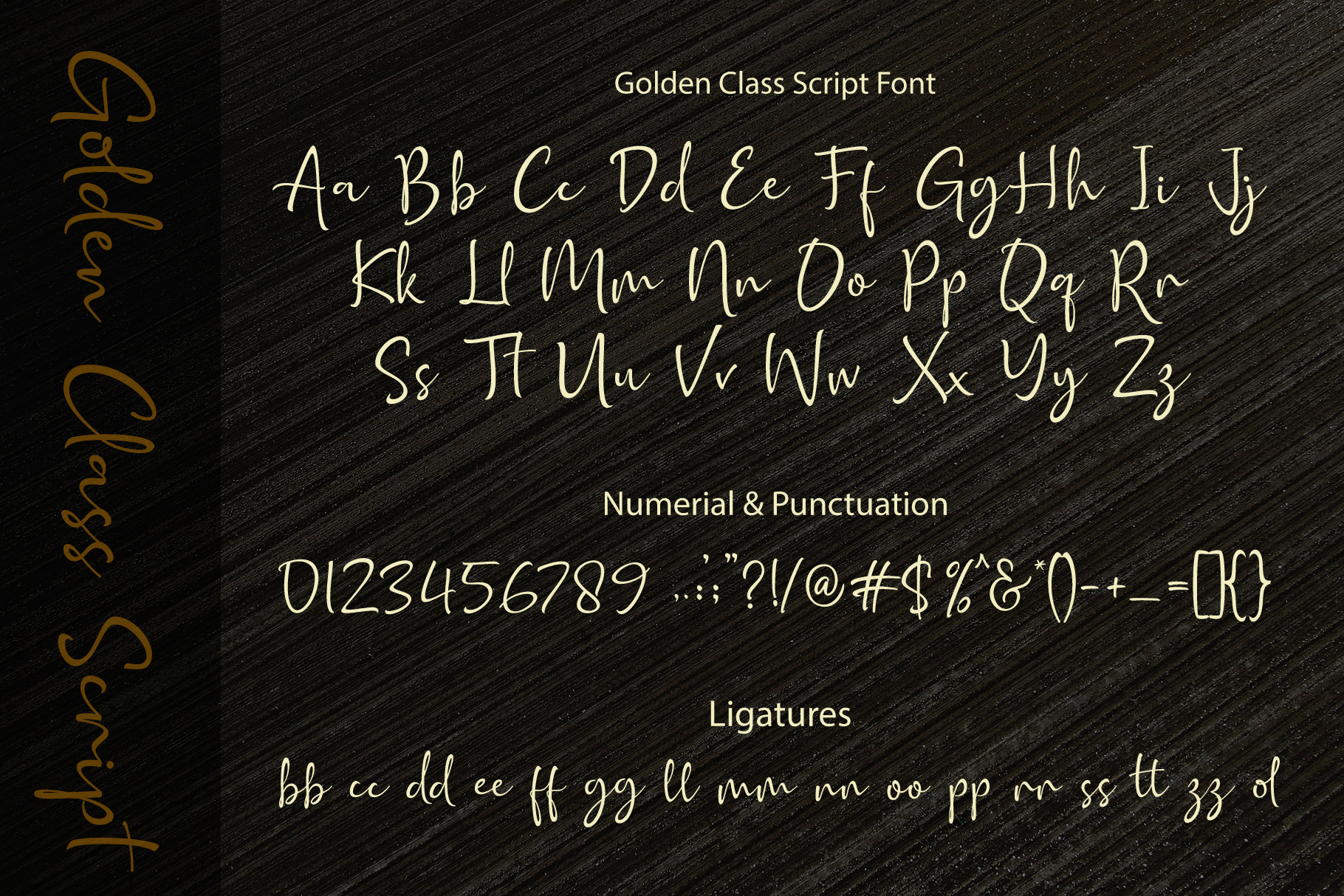 Golden Class Font Duo example image 15