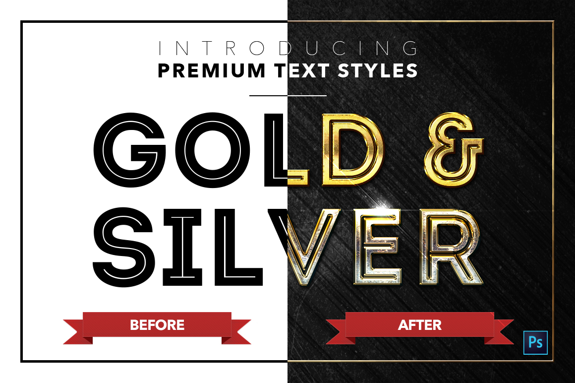 Gold & Silver #2 - 20 Text Styles example image 4