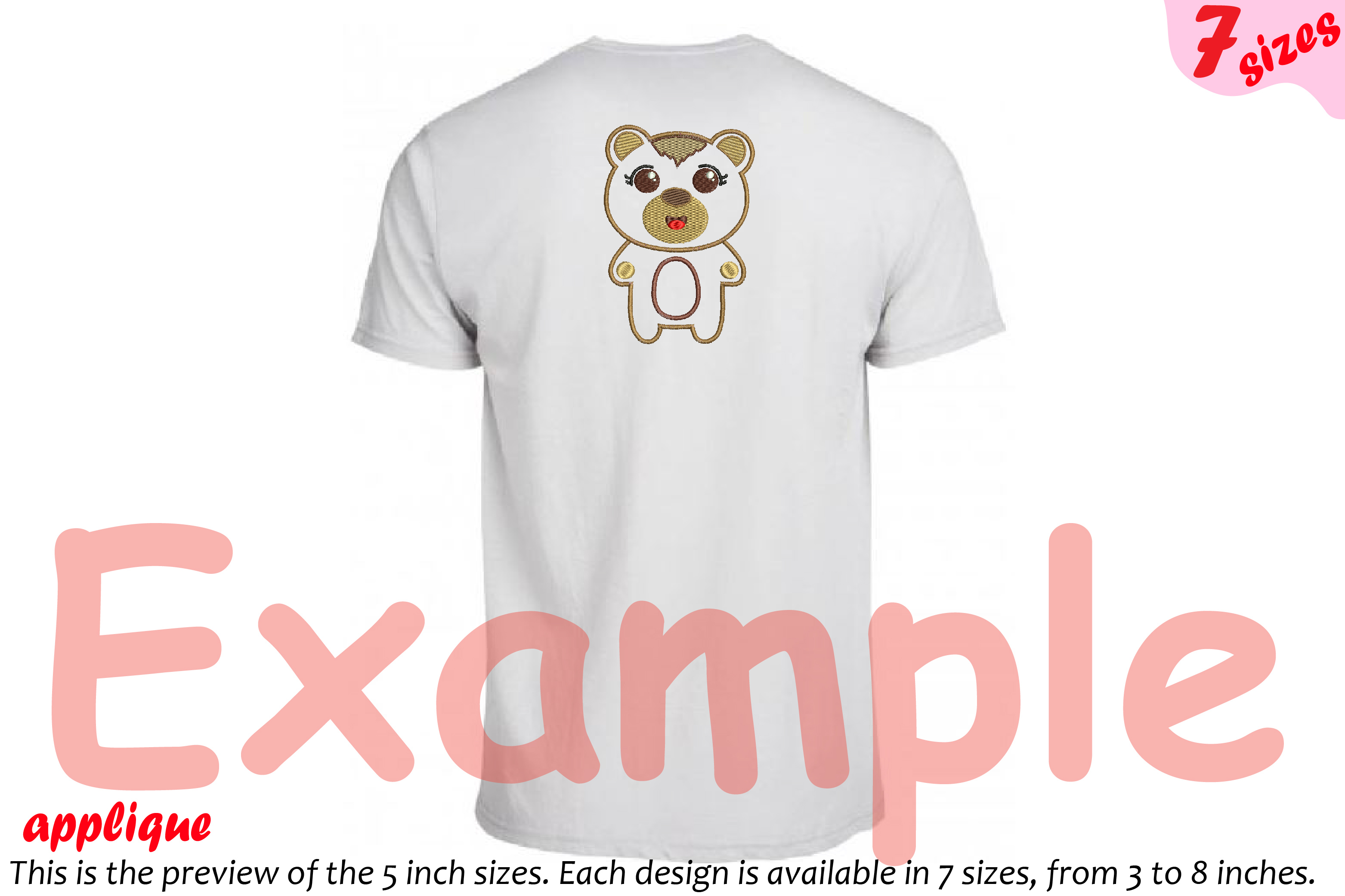 Baby Bear Applique Designs For Embroidery Machine Instant Download Commercial Use Symbol Outline Woodland Animals Cartoon Cute Emoji 16a 51625 Embroidery Design Bundles