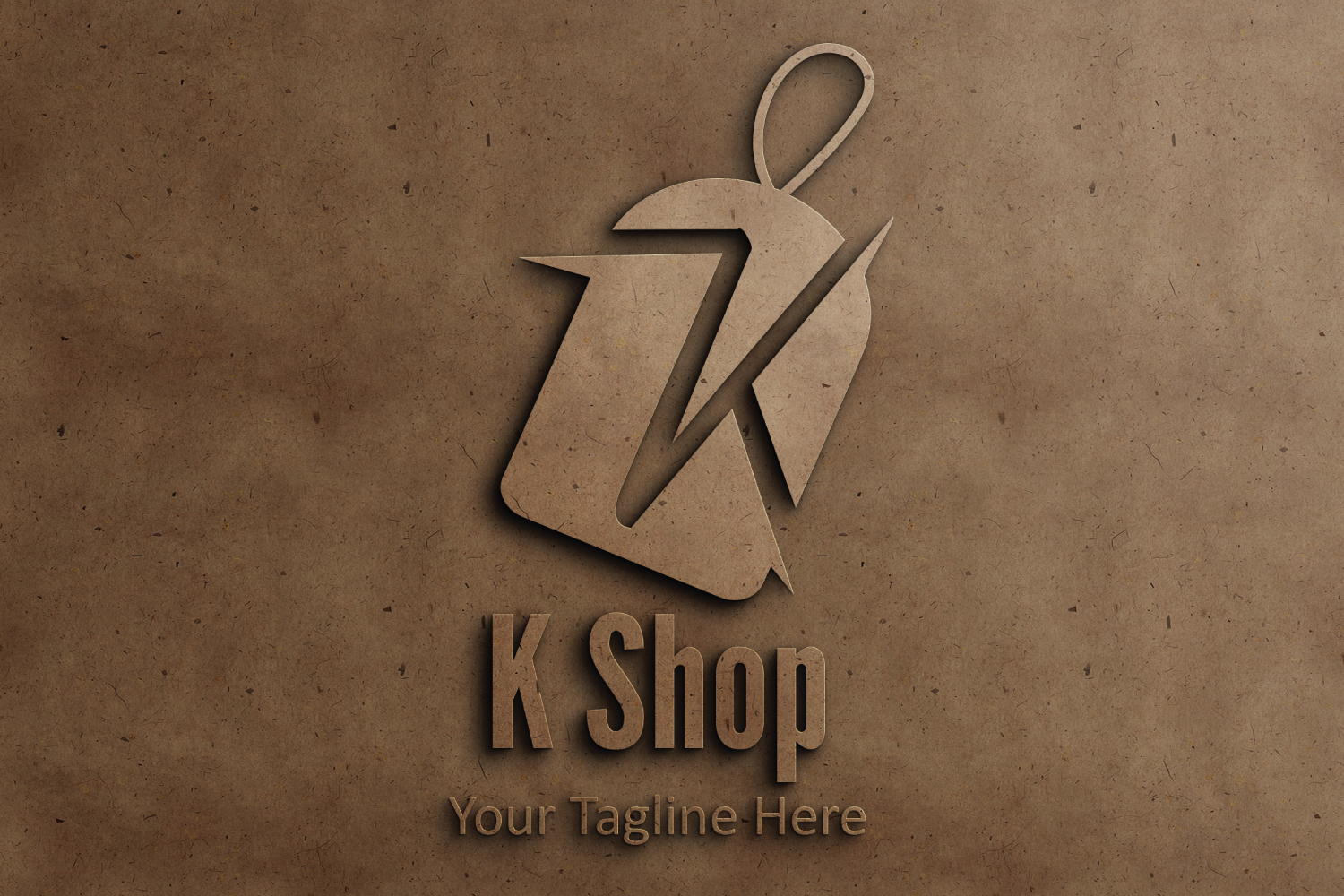 K letter sale tag logo example image 3