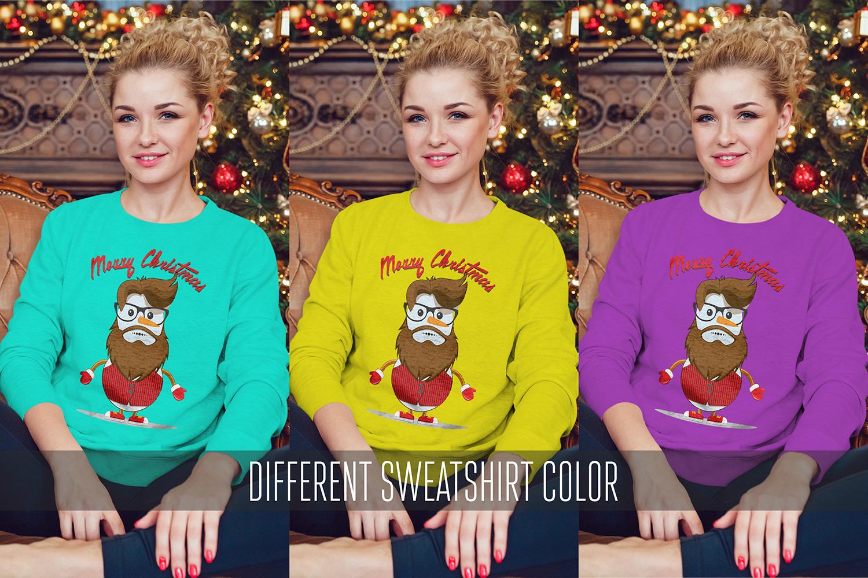 Christmas Sweatshirt Mock-Up example image 5