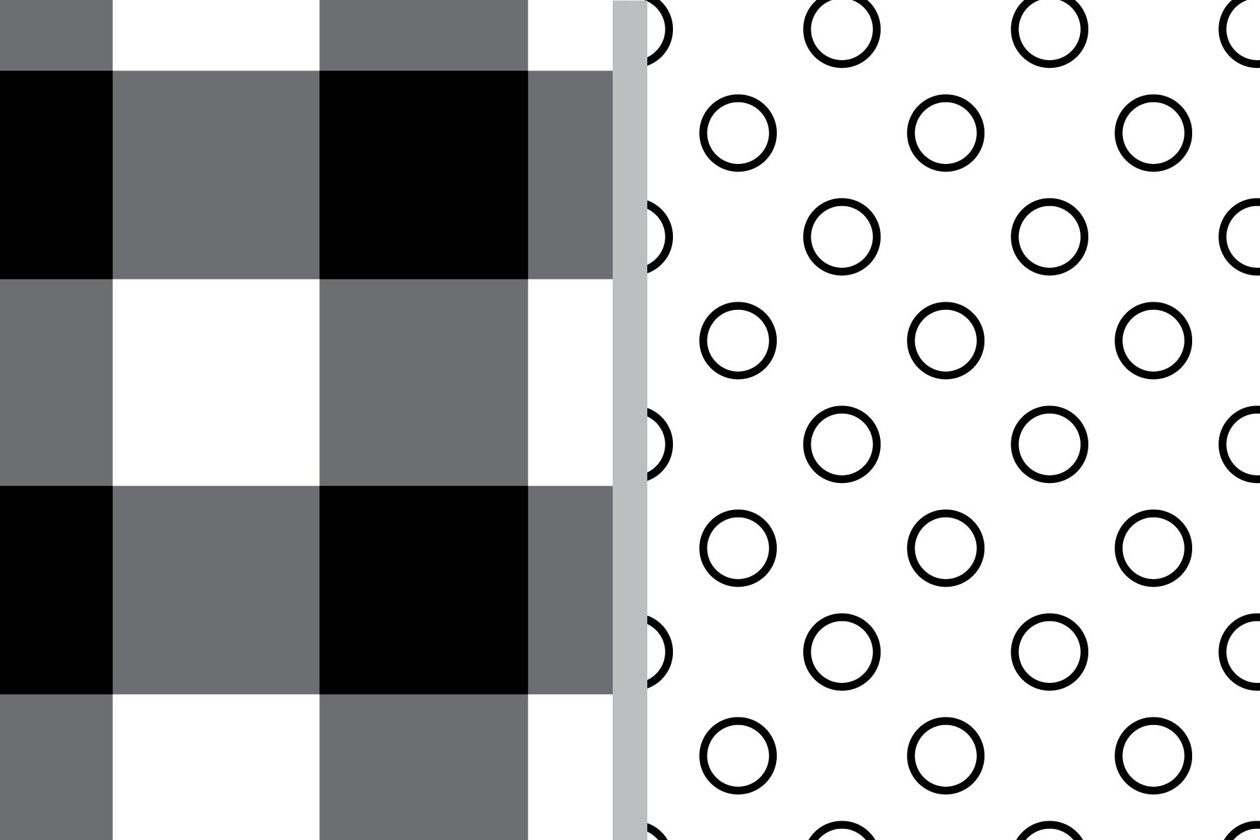 Black and White Seamless Patterns example image 5