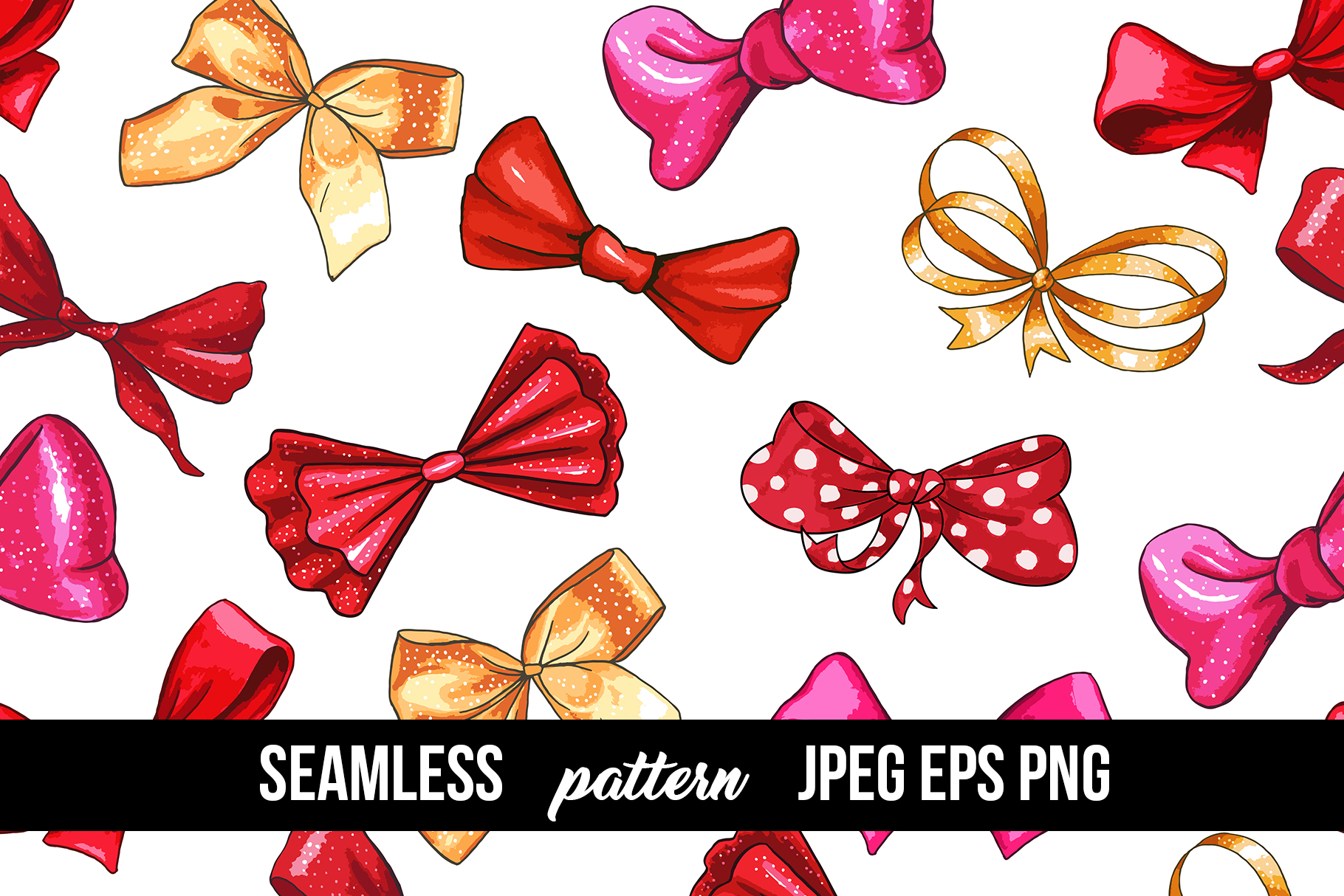 Bows and Ribbons Marker Clipart Collection example image 9
