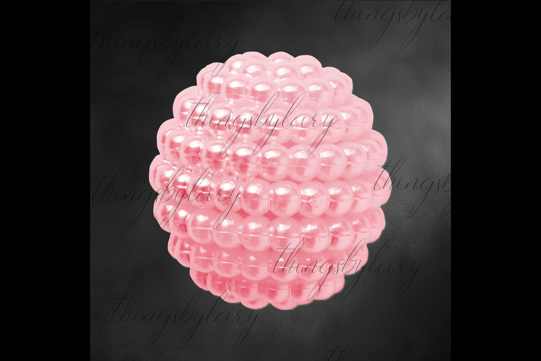 100 Pearl Pomander Digital Clip Art Jewelry Pearl Ball Image example image 3