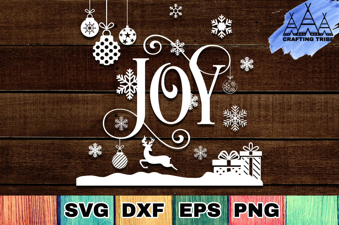 Joy - Christmas SVG Cut File example image 3