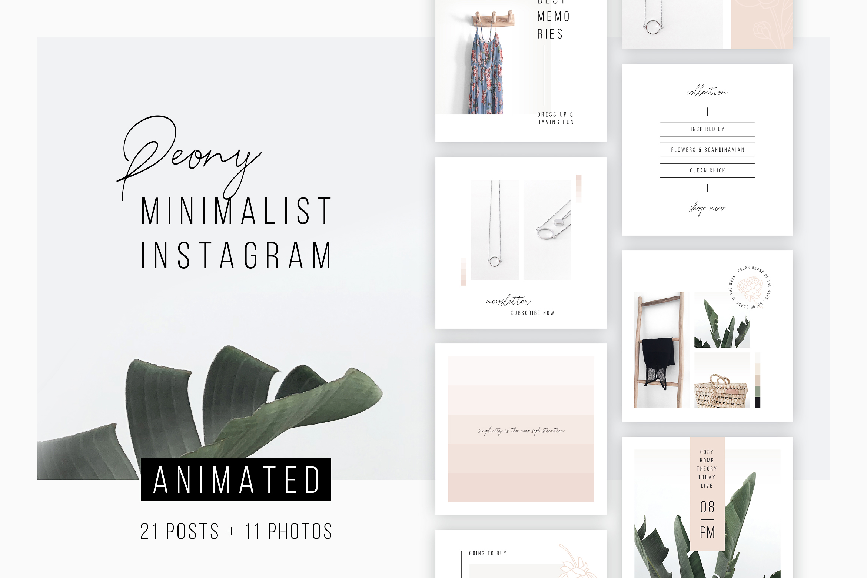 ANIMATED Instagram Posts Peony example image 1