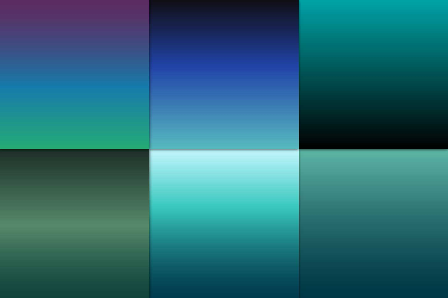 Ombre Teal Digital Paper example image 5