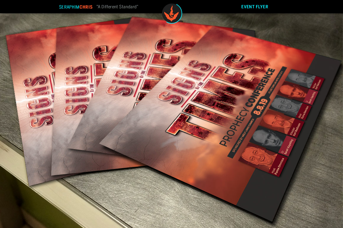 Signs of the Times Prophecy Conference Flyer Template example image 5